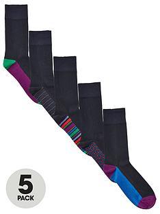 very-man-fresh-for-longer-5-packnbspheel-amp-toe-socksnbsp--black