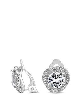 jon-richard-silver-pave-crossover-halo-with-centre-stone-clip-earrings