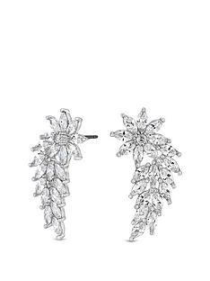 jon-richard-cubic-zirconia-flower-navette-wing-statement-earrings
