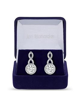 jon-richard-silver-plated-cubic-zirconia-halo-infinity-crystal-drop-earring-gift-boxed