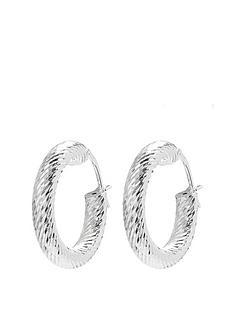 simply-silver-sterling-silver-diamond-cut-hoop-earrings