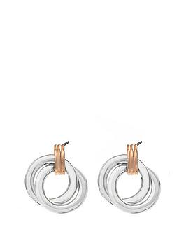 simply-silver-sterling-silver-polished-two-tone-double-open-earrings
