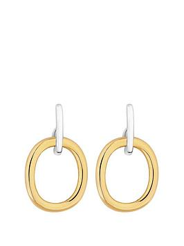 simply-silver-sterling-silver-polished-two-tone-oval-open-drop-earrings