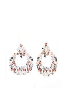 mood-silver-plated-tonal-pink-encrusted-door-knocker-earrings