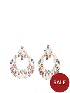 mood-silver-plated-tonal-pink-encrusted-door-knocker-earrings