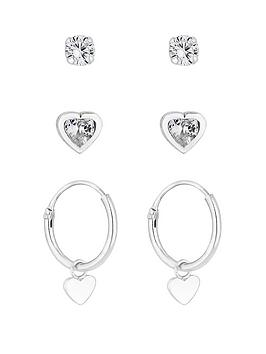 simply-silver-sterling-silver-heart-drop-earrings-pack-of-three
