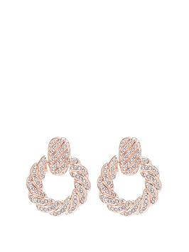 mood-rose-gold-plated-pink-pave-door-knocker-earrings