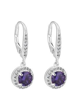 simply-silver-sterling-silver-cubic-zirconia-purple-clara-drop-earrings