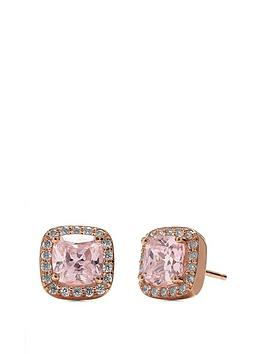 simply-silver-14ct-rose-gold-plated-sterling-silver-pink-cubic-zirconia-square-halo-stud-earrings