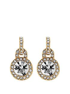 mood-gold-plated-crystal-door-knocker-stud-earrings