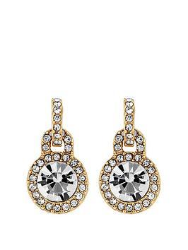 mood-gold-plated-crystal-door-knocker-stud-earrings