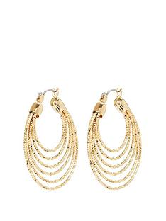 mood-gold-plated-diamond-cut-hoop-earrings