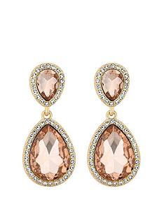 mood-rose-gold-plated-double-pear-pink-crystal-drop-earrings