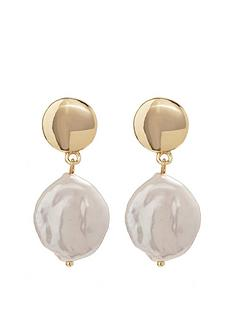 mood-gold-plated-fresh-water-pearl-drop-earrings