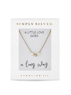 simply-silver-14ct-gold-plated-sterling-silver-triple-heart-pendant-necklace-gift-boxed