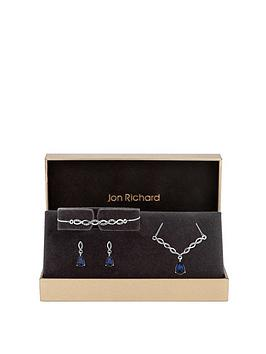 jon-richard-blue-and-silver-plated-twist-jewellery-set-gift-boxed
