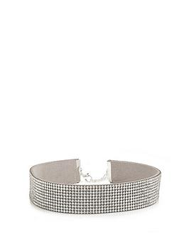 mood-silver-plated-crystal-wide-choker-necklace