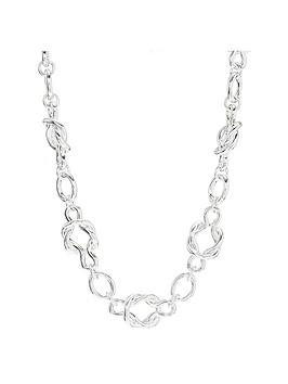 mood-silver-plated-knot-chain-necklace