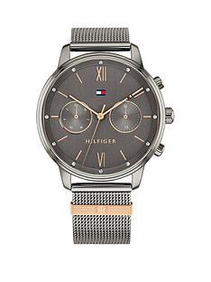 tommy-hilfiger-black-silver-multi-dial-silver-mesh-bracelet-watch