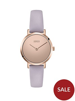 hugo-cherish-leather-strap-watch