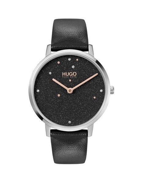 hugo-hugo-dream-black-dial-black-leather-strap-watch