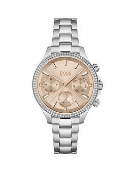 boss-hera-pink-multi-dial-stainless-steel-bracelet-watch