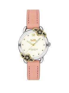 coach-coach-delancey-white-flower-bezel-pink-leather-strap-watch