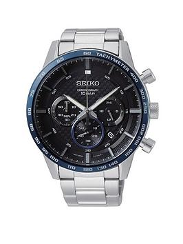 seiko-black-and-blue-bezel-chronograph-dial-stainless-steel-bracelet-mens-watch