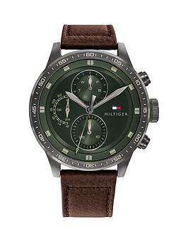 tommy-hilfiger-green-multi-dial-brown-leather-strap-watch