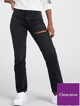 v-by-very-30-premium-high-waistnbspthigh-rip-90s-jean-nbsp--washed-black