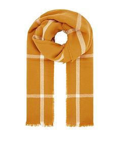 accessorize-sunny-window-pane-check-blanket-scarf-yellow
