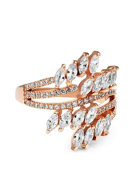 jon-richard-rose-gold-plated-twisted-navette-cubic-zirconia-ring
