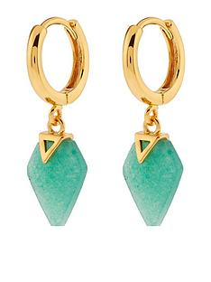 accessorize-healing-stone-huggie-hoops-aventurine-earrings-green
