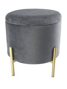 grey-storage-stool-with-gold-legs