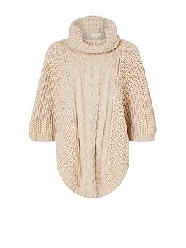 accessorize-cable-knit-poncho-natural