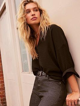 mint-velvet-throw-on-shirt-black