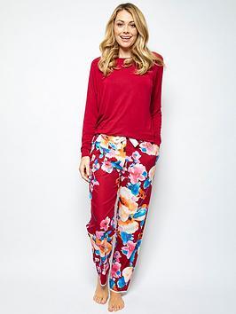cyberjammies-megan-floral-print-pant-amp-jersey-top-pyjamasnbspset-red