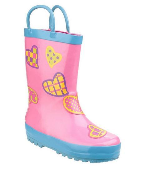cotswold-girls-heart-wellington-boots