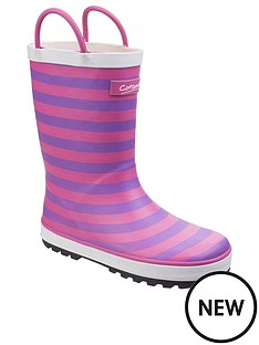 cotswold-girls-pink-stripe-wellington-boots