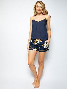 cyberjammies-alexa-floral-shorts-amp-cami-set-blue