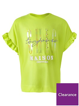 river-island-girls-chic-ruffle-sleeve-t-shirt--nbspyellow