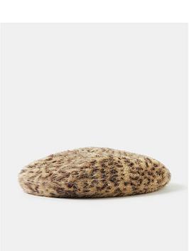 accessorize-leopard-fluffy-beret-brown