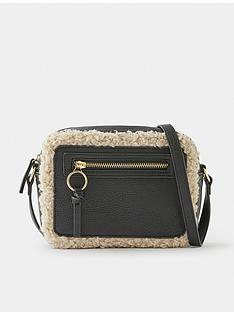 accessorize-shearling-trim-cross-body-bag-black