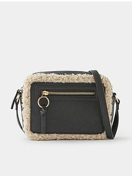 accessorize-shearling-trim-cross-body-bag-black