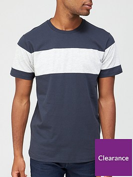 very-man-chest-panel-t-shirt-navygrey