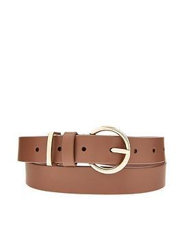 accessorize-roundnbspleather-belt-tan