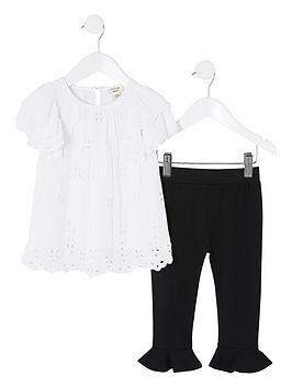 river-island-mini-girls-embroidered-top-and-legging-set--nbspwhite