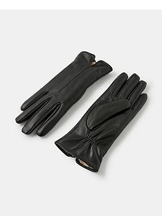 accessorize-faux-fur-lined-leather-gloves-black