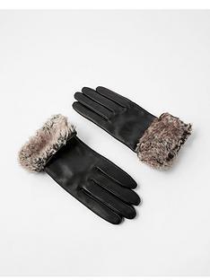 accessorize-faux-fur-trim-leather-glove