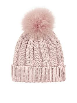 accessorize-luxe-pom-beanie-pink